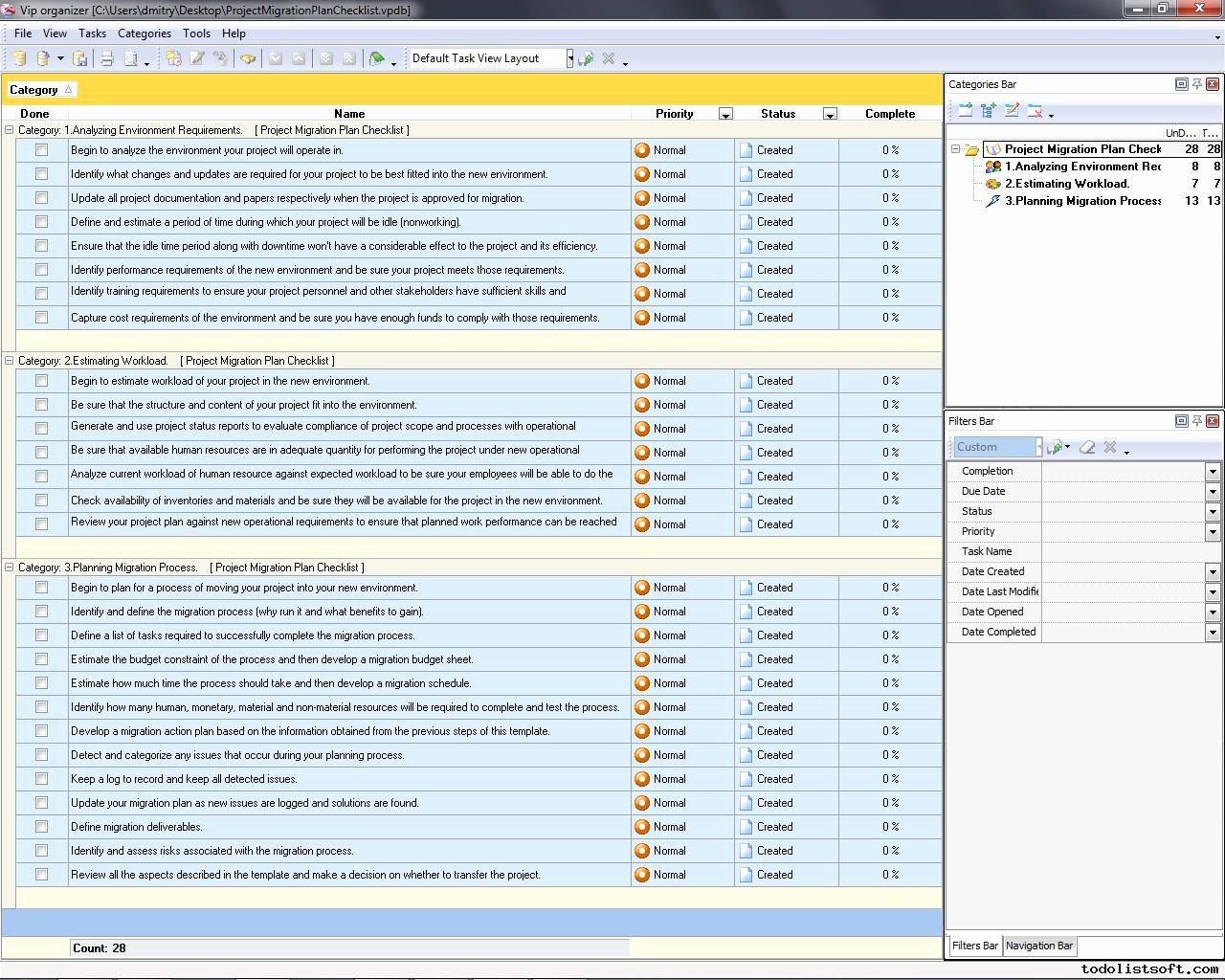 Software Project Plan Template Best Of Project Migration Plan Checklist to Do List organizer