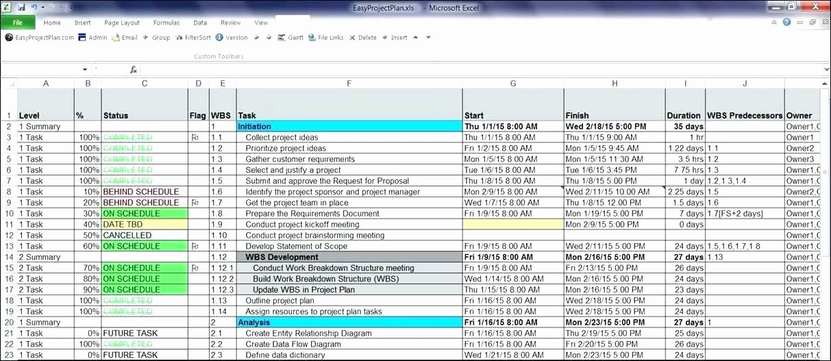 Software Project Planning Template Elegant Project Plan Calendar Template Excel Year Planner Free for