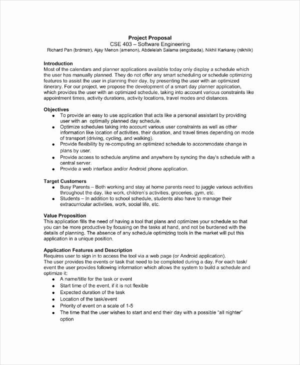 Software Project Proposal Template Awesome 10 software Project Proposal Templates & Samples Pdf