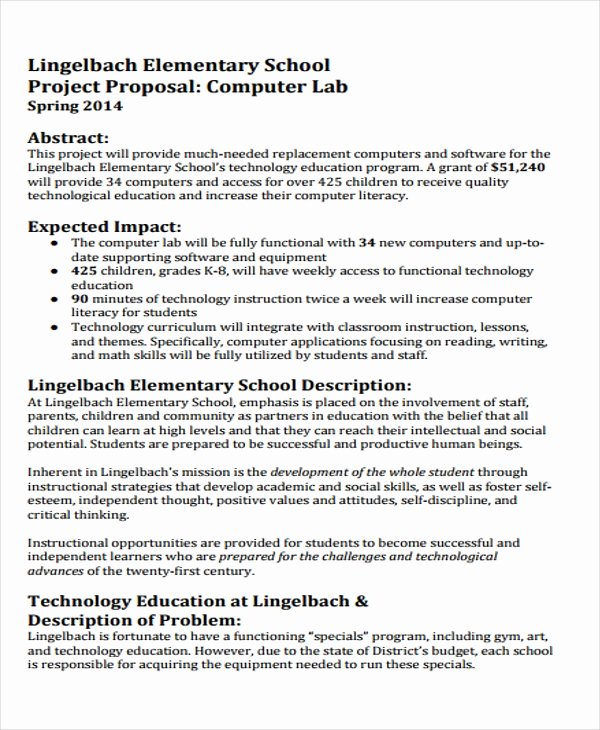 Software Project Proposal Template Awesome 32 Project Proposal Samples