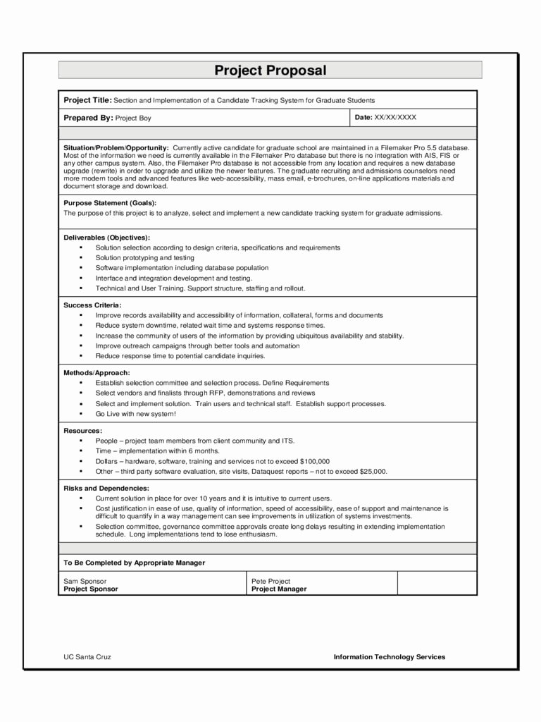 Software Project Proposal Template Best Of 9 software Project Proposal Examples Pdf