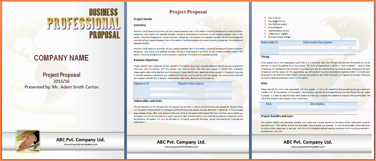 Software Proposal Template Word Awesome 8 Project Proposal Template Word