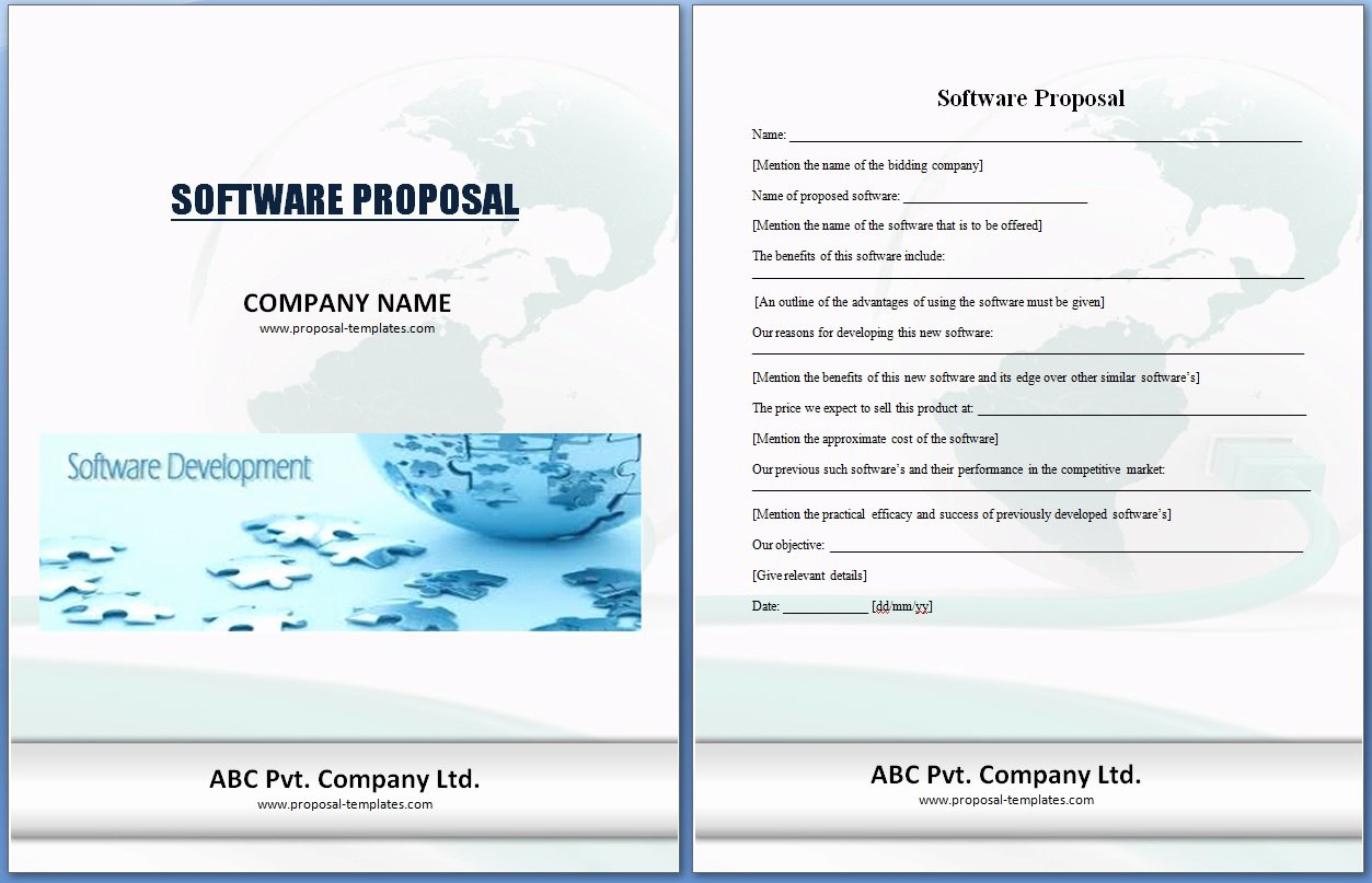 Software Proposal Template Word Best Of software Project Proposal Template Excel Xlts