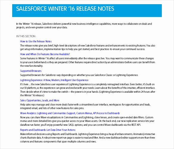 Software Release Notes Template Beautiful Release Notes Template 14 Free Word Pdf Documents