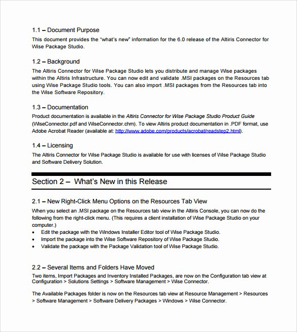 Software Release Notes Template Beautiful Sample Release Notes 9 Documents In Pdf