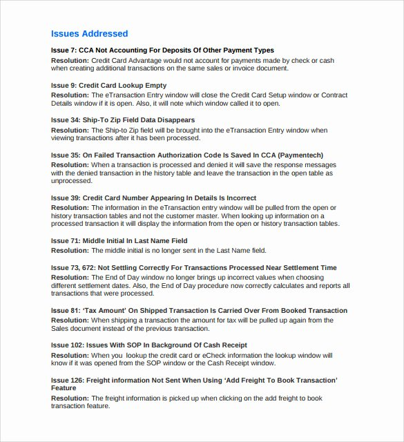Software Release Notes Template Lovely 8 Release Notes Templates to Download for Free
