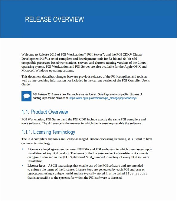 Software Release Notes Template Luxury 8 Release Notes Templates to Download for Free