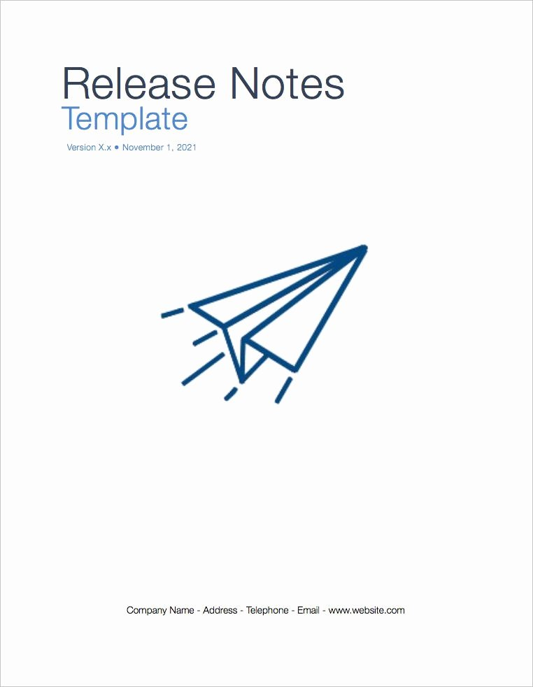Software Release Notes Template Luxury Release Notes Template Apple Iwork Pages Numbers