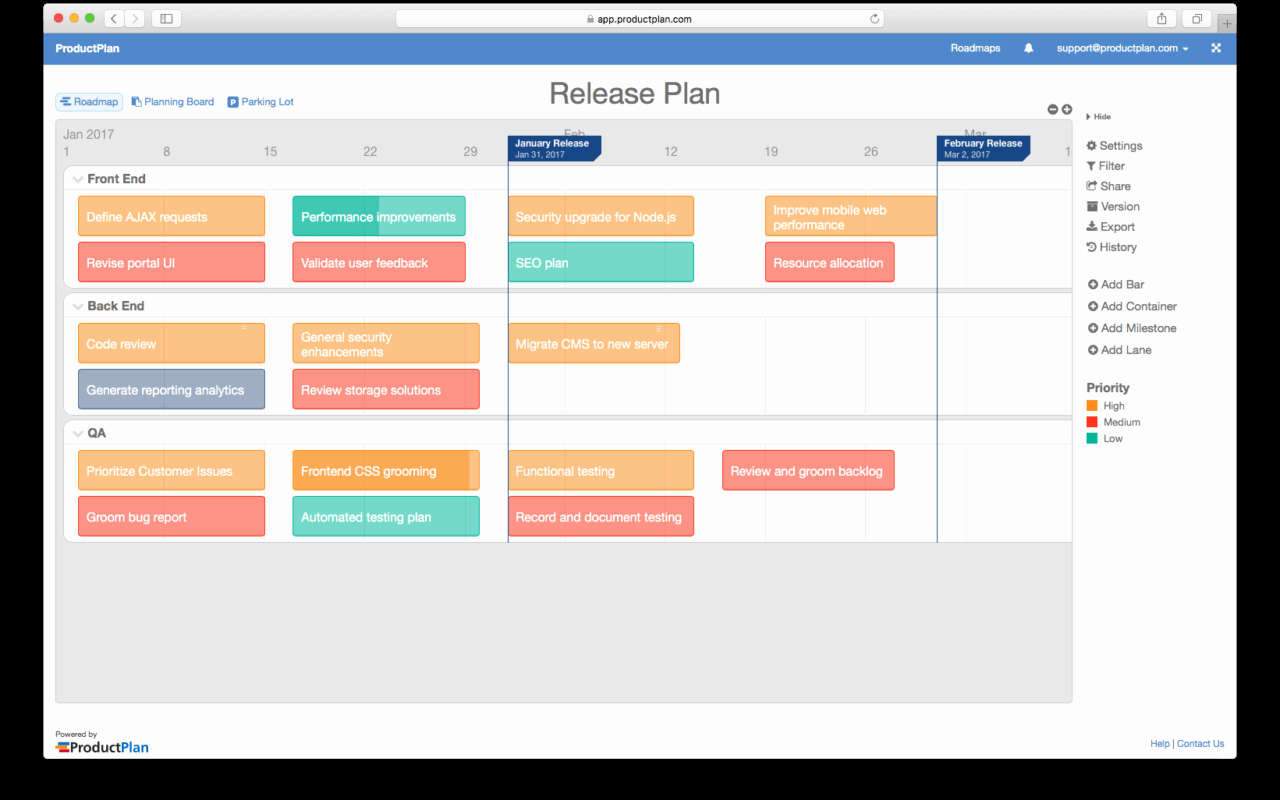 Software Release Plan Template New Release Plan Template