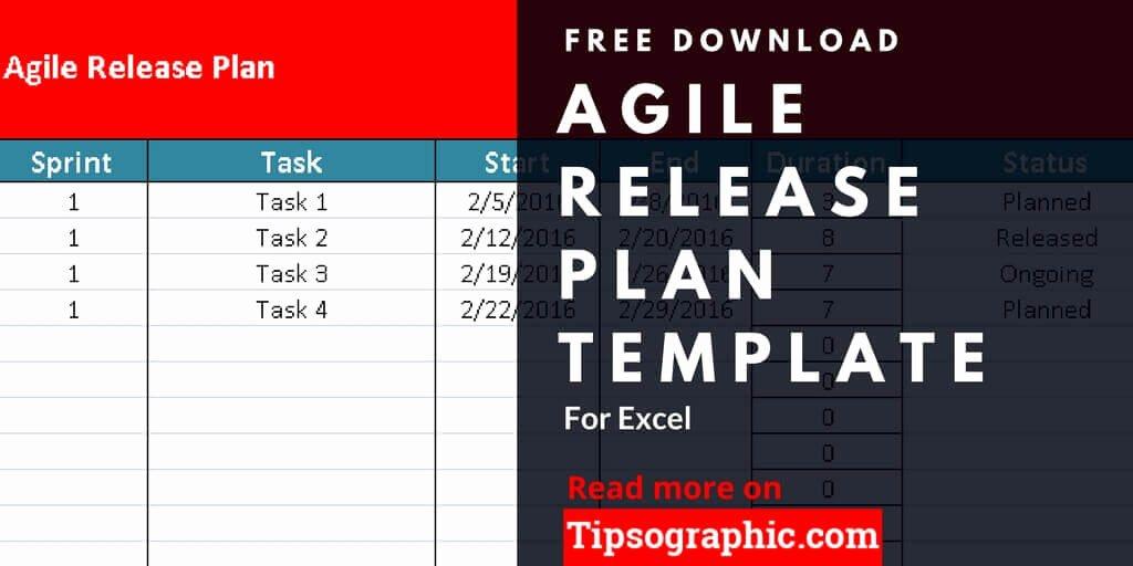 Software Release Plan Template Unique Agile Release Plan Template for Excel Free Download