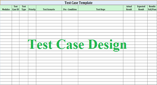 Software Test Case Template Fresh software Test Design Work for Quality