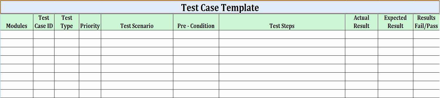 Software Test Case Template Unique software Test Design Work for Quality