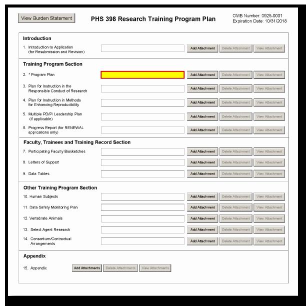 Software Training Plan Template Unique G 420 Phs 398 Research Training Program Plan form