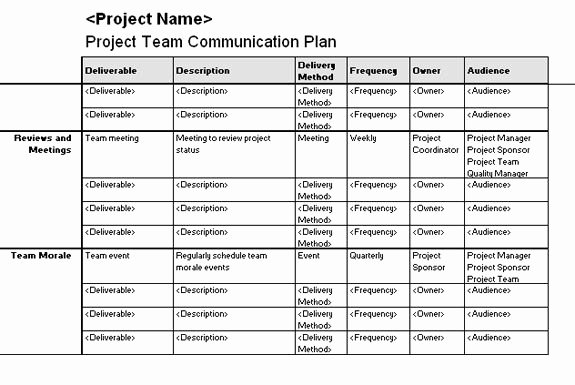 Software Upgrade Project Plan Template Best Of Project Team Munication Plan Templates Fice