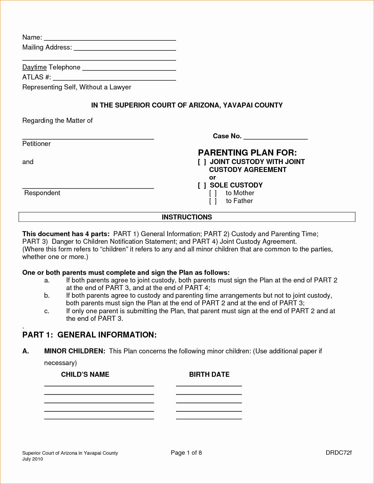 Sole Custody Agreement Template Luxury Medical Insurance Verification form Template Tulum