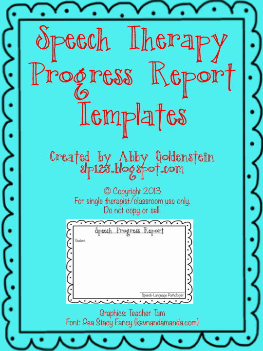 Speech therapy Progress Notes Template New Schoolhouse Talk Free Speech therapy Progress Report