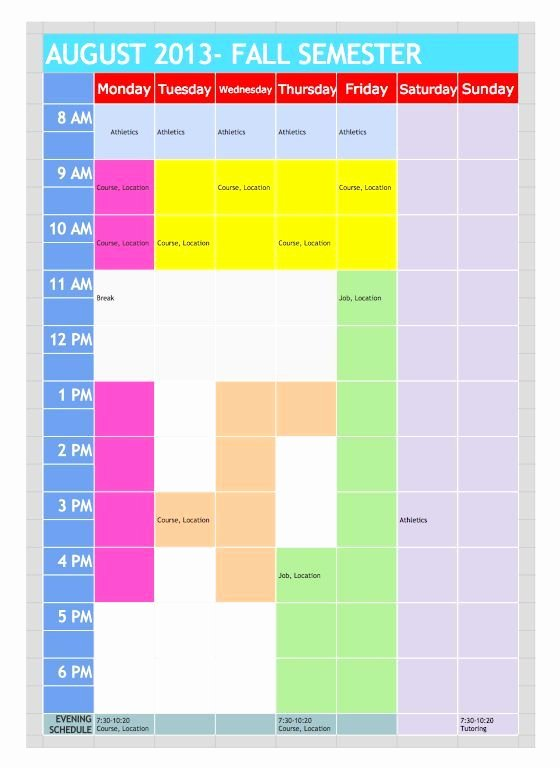 Speech therapy Schedule Template Best Of Google Doc Template Freebies