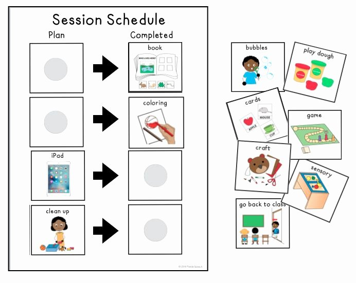 Speech therapy Schedule Template Inspirational Best 25 Visual Schedule Autism Ideas On Pinterest