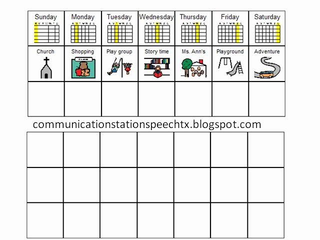 Speech therapy Schedule Template Luxury Munication Station Speech therapy Pllc Visual