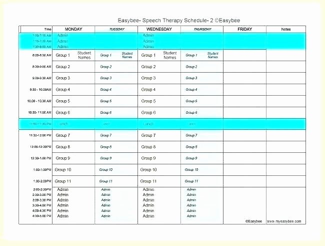Speech therapy Schedule Template New Articulation Phonology Speech Evaluation Report Template