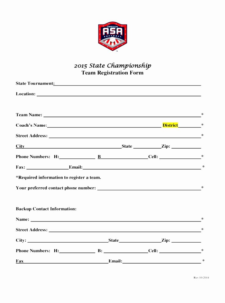 Sports Registration form Template Fresh 12 Sports Team Registration form Template Eoiuy