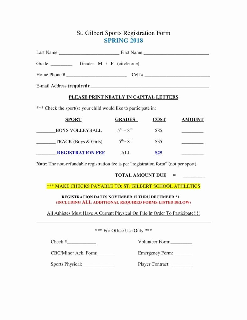 Sports Registration form Template Fresh 6 Sport Sign Up Sheet Templates Pdf