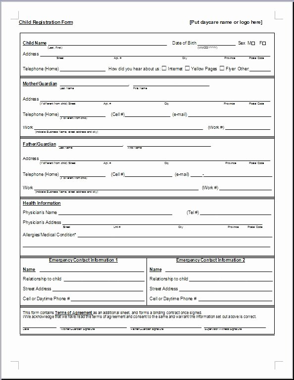 Sports Registration form Template Fresh Download Example Sports Registration form Template