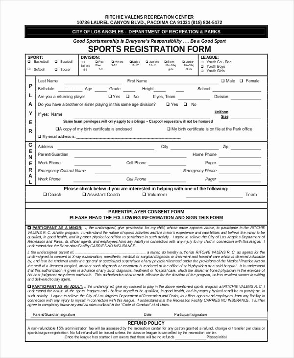 Sports Registration form Template Inspirational Youth Conference Registration form Template Gallery
