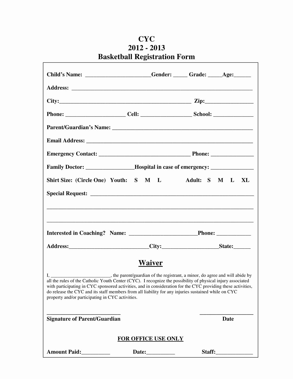 Sports Registration form Template Luxury Sports Club Registration form Template forms