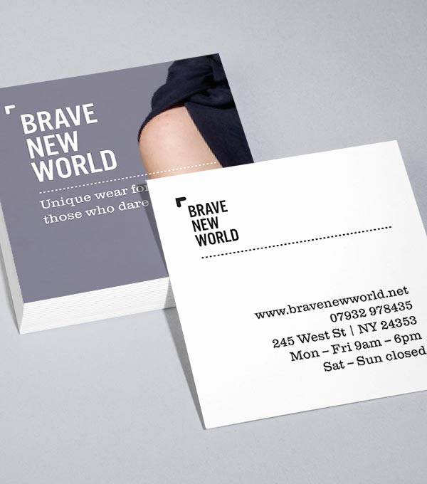 Square Business Card Template Awesome Square Business Card Design