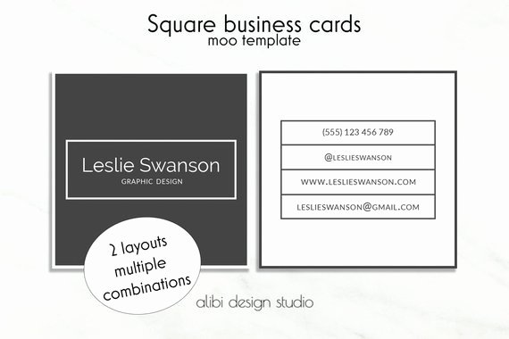 Square Business Card Template Beautiful Items Similar to Square Business Card Design Square