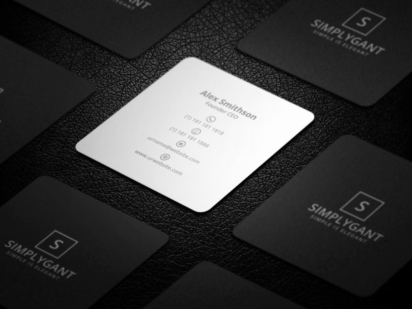 Square Business Card Template Beautiful Mini Square Business Card Psd Templates Design