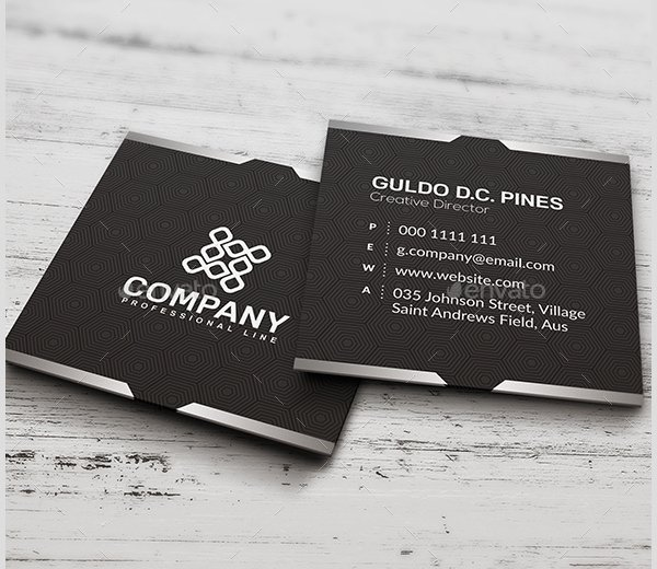 Square Business Card Template Best Of 22 Square Business Cards Free Psd Eps Illustrator