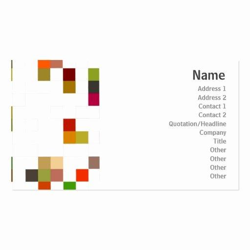 Square Business Card Template Elegant Color Square Business Business Card Template