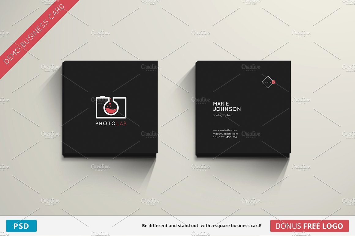 Square Business Card Template Elegant Lab Business Card Square Business Card Templates