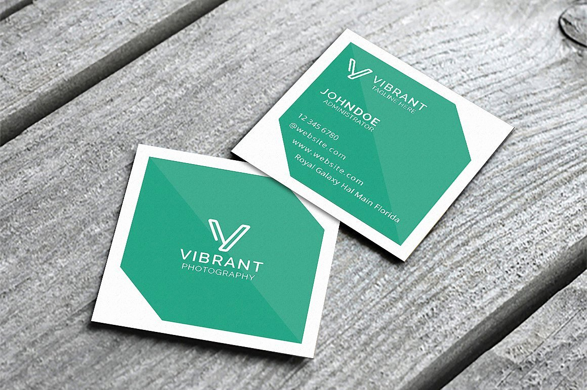 Square Business Card Template Elegant Simple Square Business Card Business Card Templates