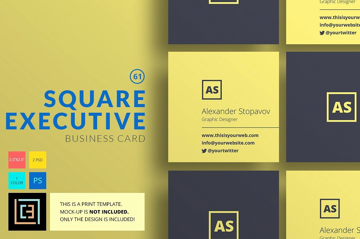 Square Business Card Template Free Awesome 23 Mini Square Business Card Psd Templates Ready to Print