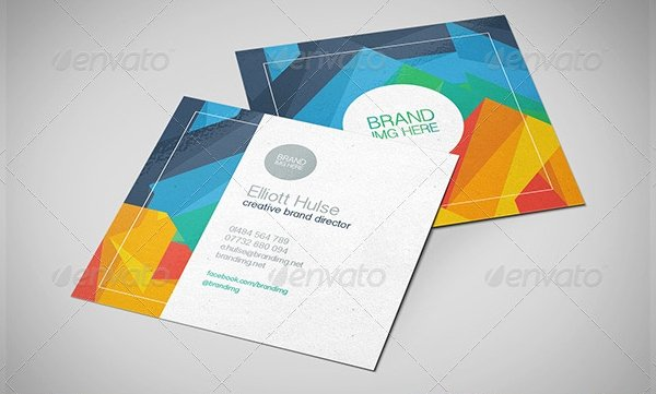 Square Business Card Template Free Beautiful 22 Square Business Cards Free Psd Eps Illustrator