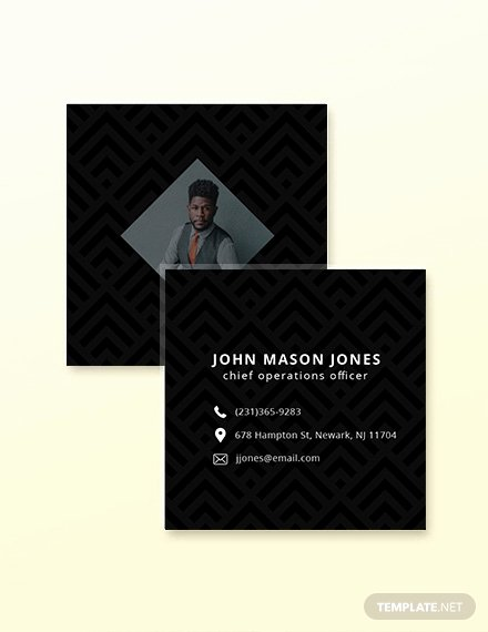 Square Business Card Template Free Beautiful Free Square Simple Business Card Template Download 180