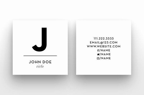 Square Business Card Template Free Best Of Mini Square Business Card Psd Templates Design