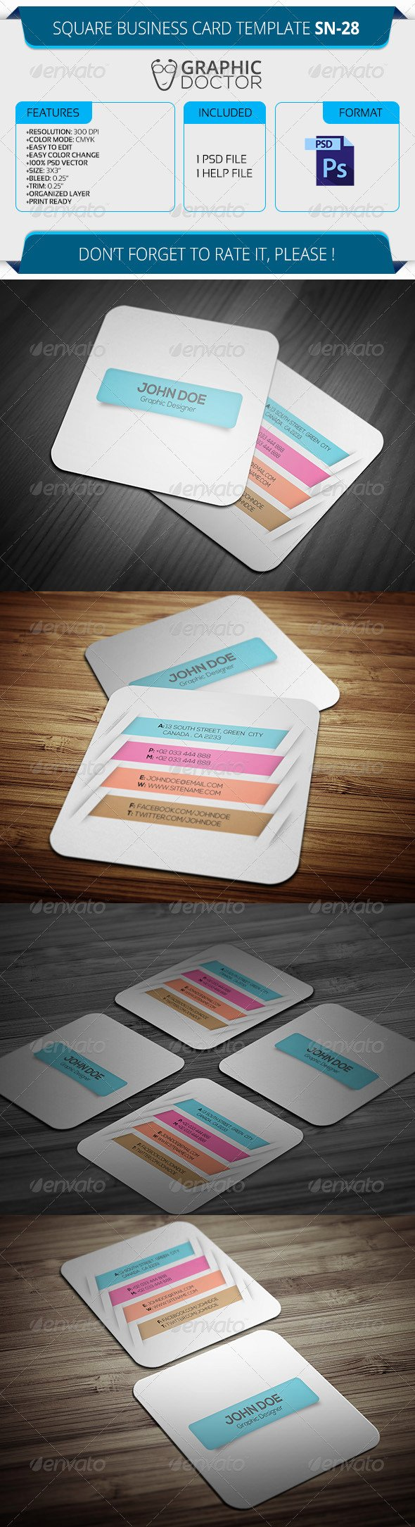 Square Business Card Template Free Best Of Square Business Card Template Sn 28 by Graphicdoctor