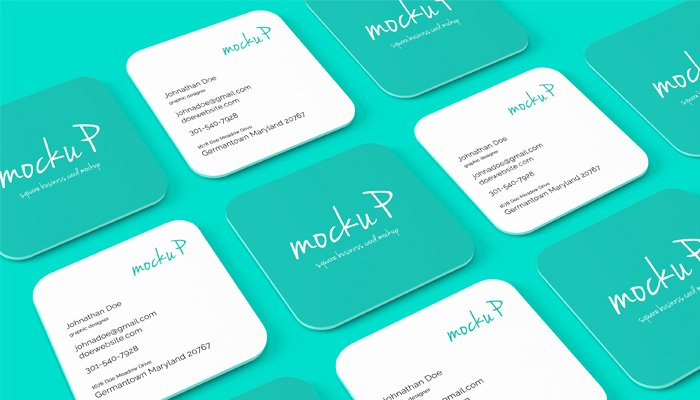 Square Business Card Template Free Elegant 25 Square Business Card Mockup Templates Mashtrelo