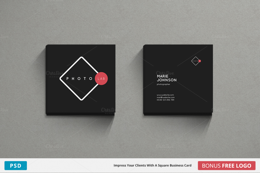 Square Business Card Template Free Fresh 10 Premium Modern Card Templates Premiumcoding