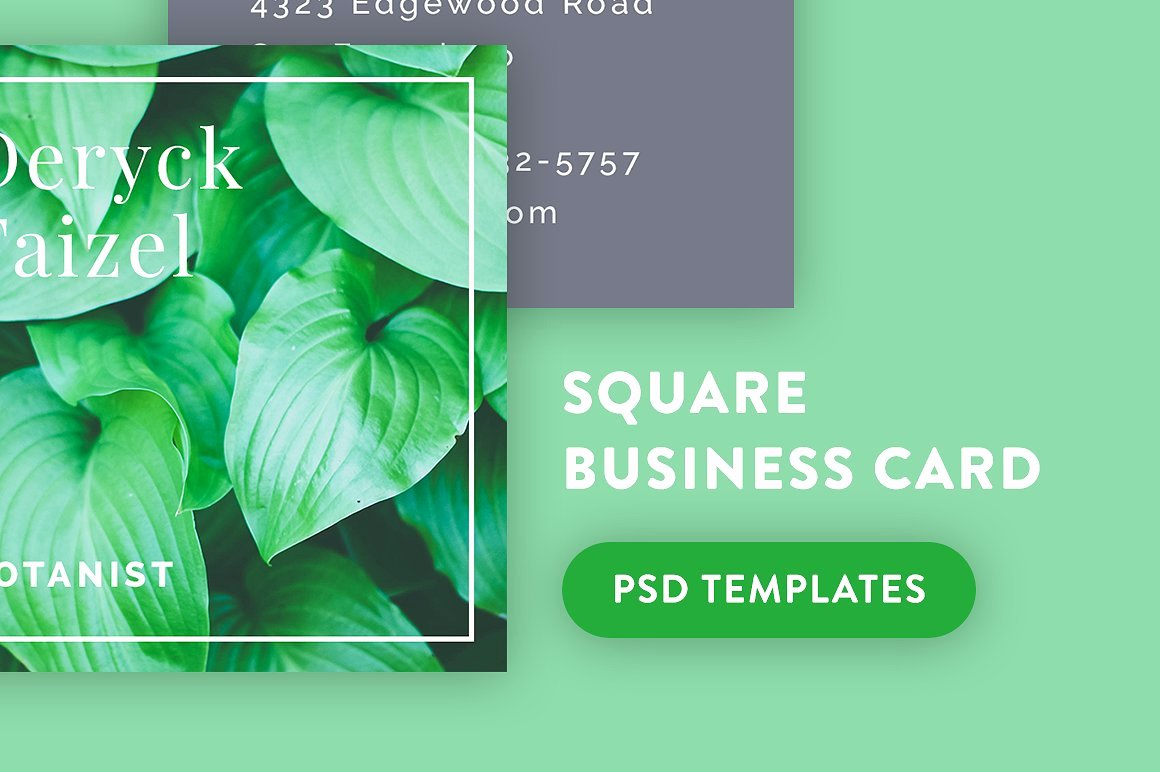 Square Business Card Template Free Fresh 23 Mini Square Business Card Psd Templates Ready to Print