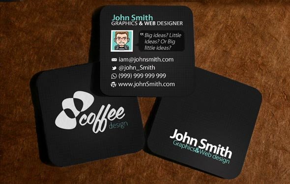 Square Business Card Template Free Inspirational Square Business Card Template Photoshop 22 Square Business