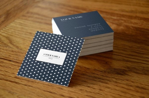 Square Business Card Template Free Lovely 22 Square Business Cards Free Psd Eps Illustrator