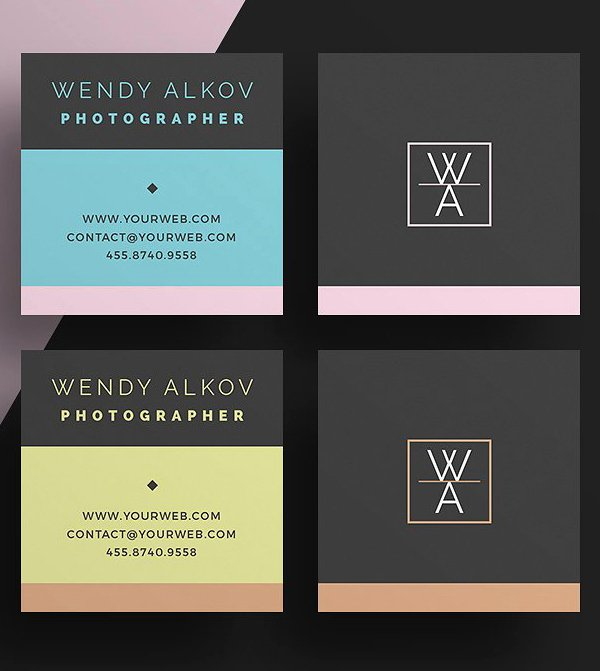 Square Business Card Template Free Luxury Mini Square Business Card Psd Templates Design