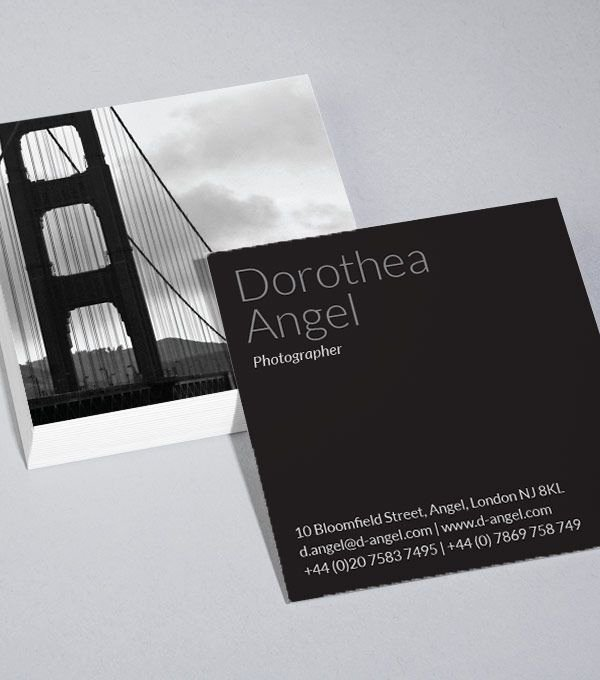 Square Business Card Template Fresh Best 25 Square Business Cards Ideas On Pinterest