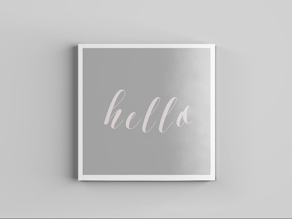 Square Business Card Template Fresh Square Business Card Template Minimalist Hello Quote