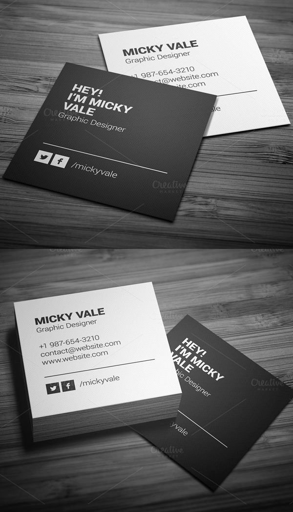 Square Business Card Template Inspirational 25 Best Ideas About Presentation Cards On Pinterest